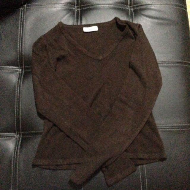 Knitted brown longsleeves