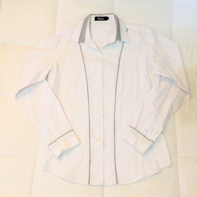 Korean Style White Polo