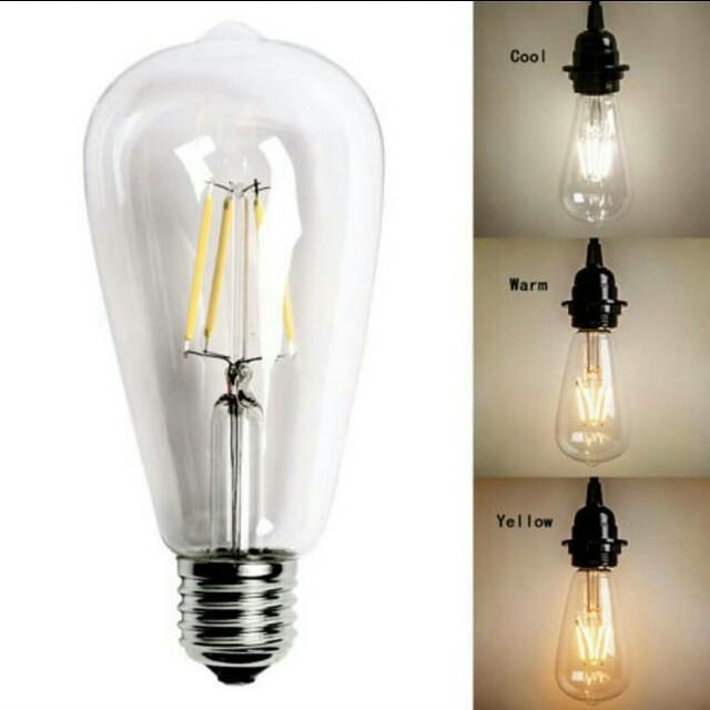 Lampu LED FILAMENT BULD 4 WATT ST64