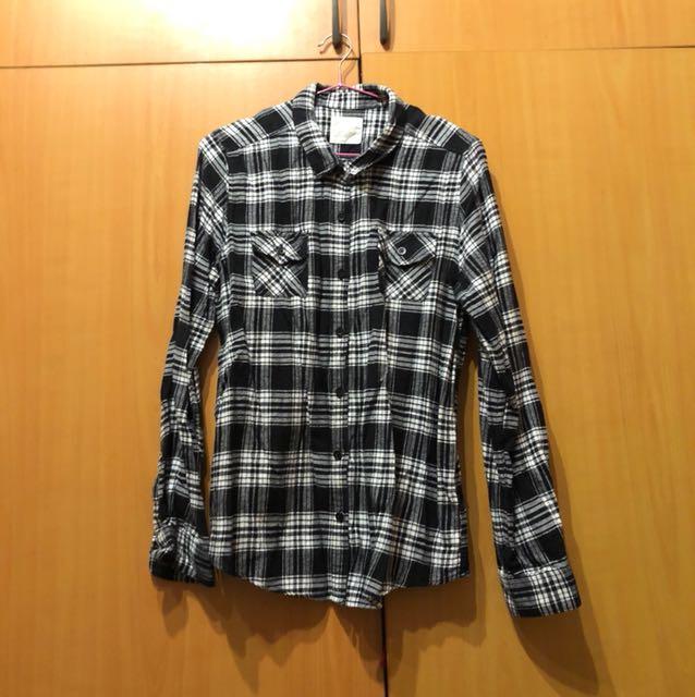 Lativ 格紋長袖衫Xl