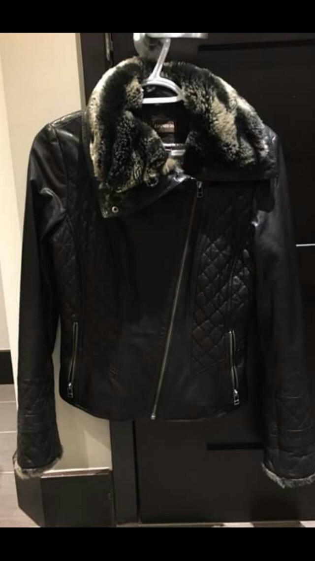 WANT: Leather biker coat 2xs/3xs