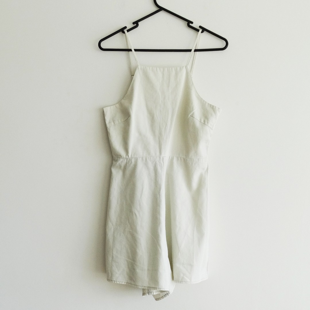 Lee Size S White Denim Romper/Playsuit