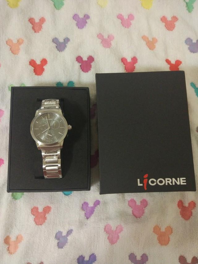 LICORNE力抗經典腕錶-灰x小(LI038LWUI)