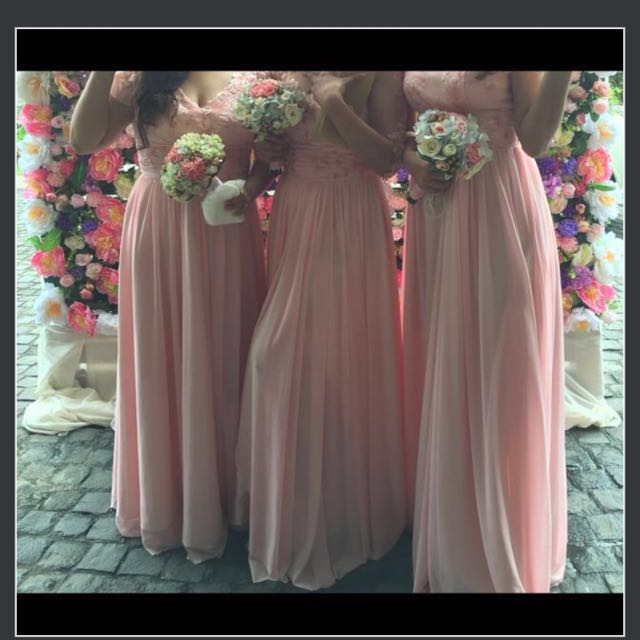 Long Gown Coral Color