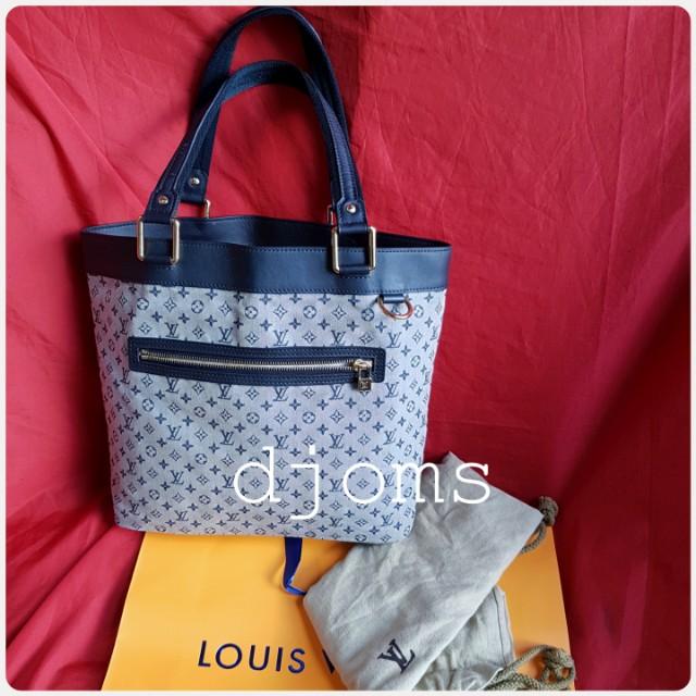 Louis Vuitton Lucille Blue mini lin LV monogram tote bsg