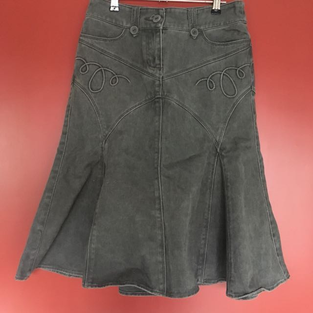 MANGO Gray Skirt