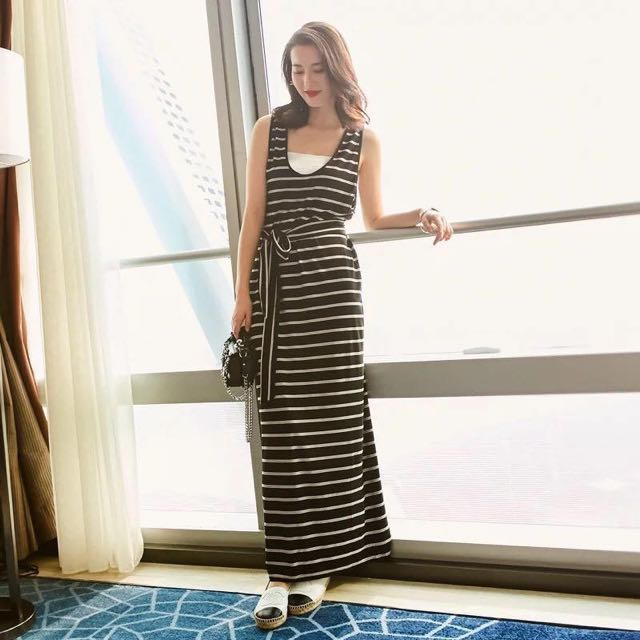 Maxi dress with inner tube top