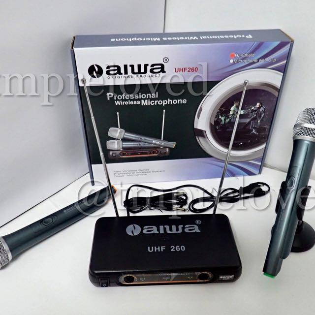 Mic AIWA UHF 260 Wireless Microphone Aiwa UHF 260 (2 Handle)