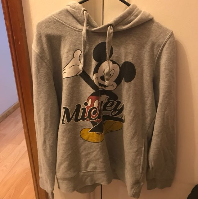 Mickey Grey Hoodie - Size M