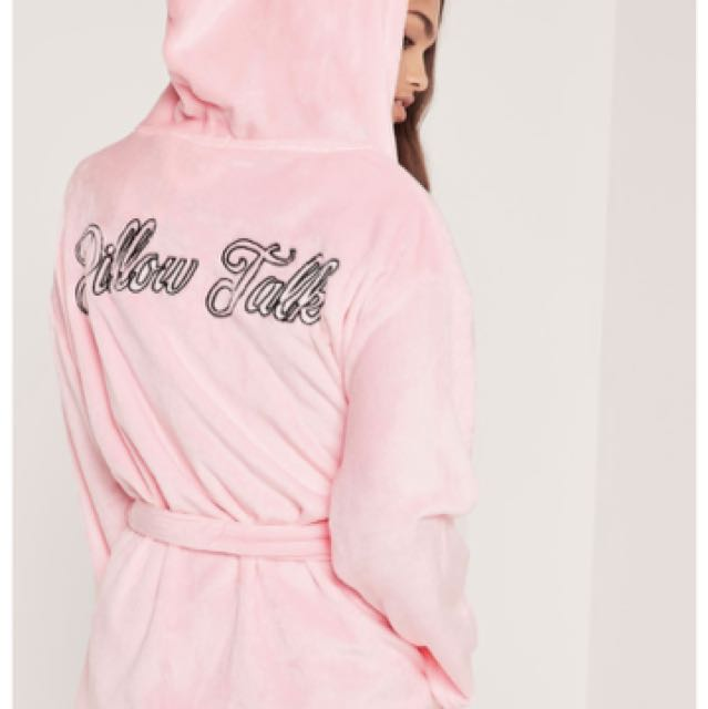 Misguided pink fluffy robe