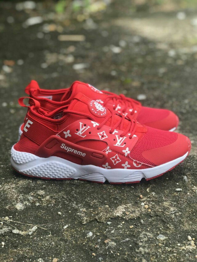 54f619e92ef Nike Huarache Lv x Supreme Red