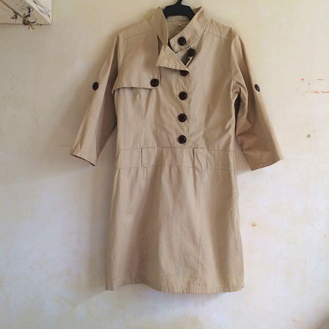 Nude trench coat