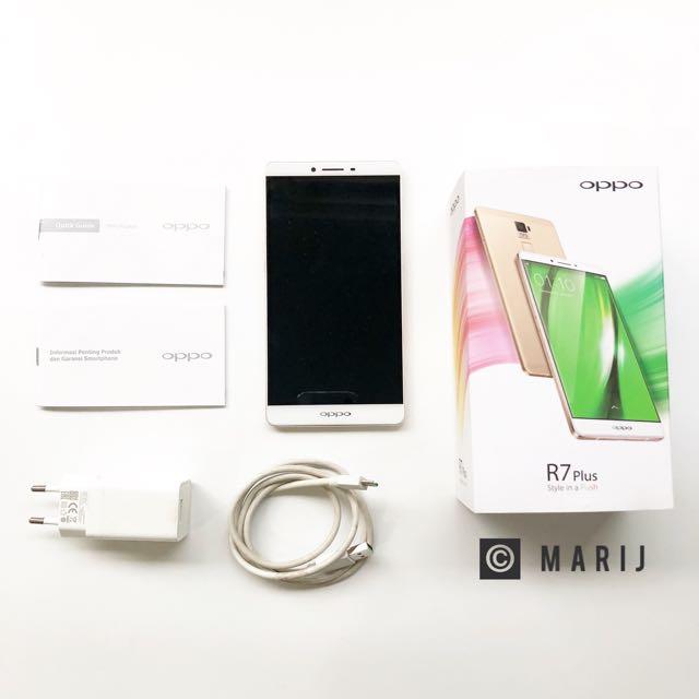 Oppo R7 Plus 3GB/32GB - Gold (dengan box)