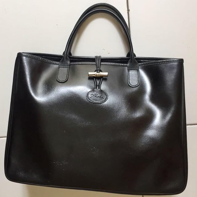 Original Longchamp Roseau Leather Tite Bag
