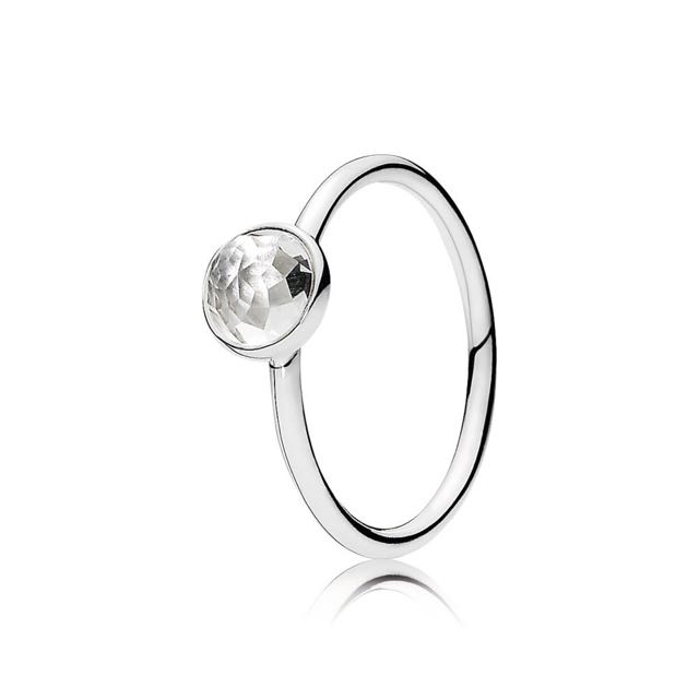 Pandora April Droplet Ring