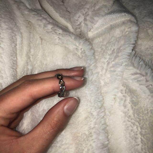 Pandora silver and gold ring