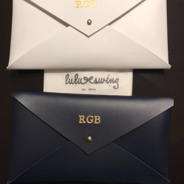 """Personalized """"RGB"""" Envelope Clutch BUY 1 GET 1"""