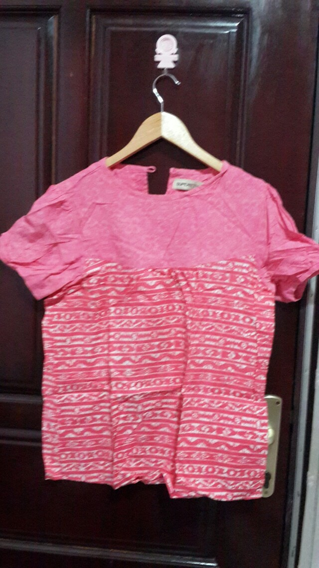 Pink batik top