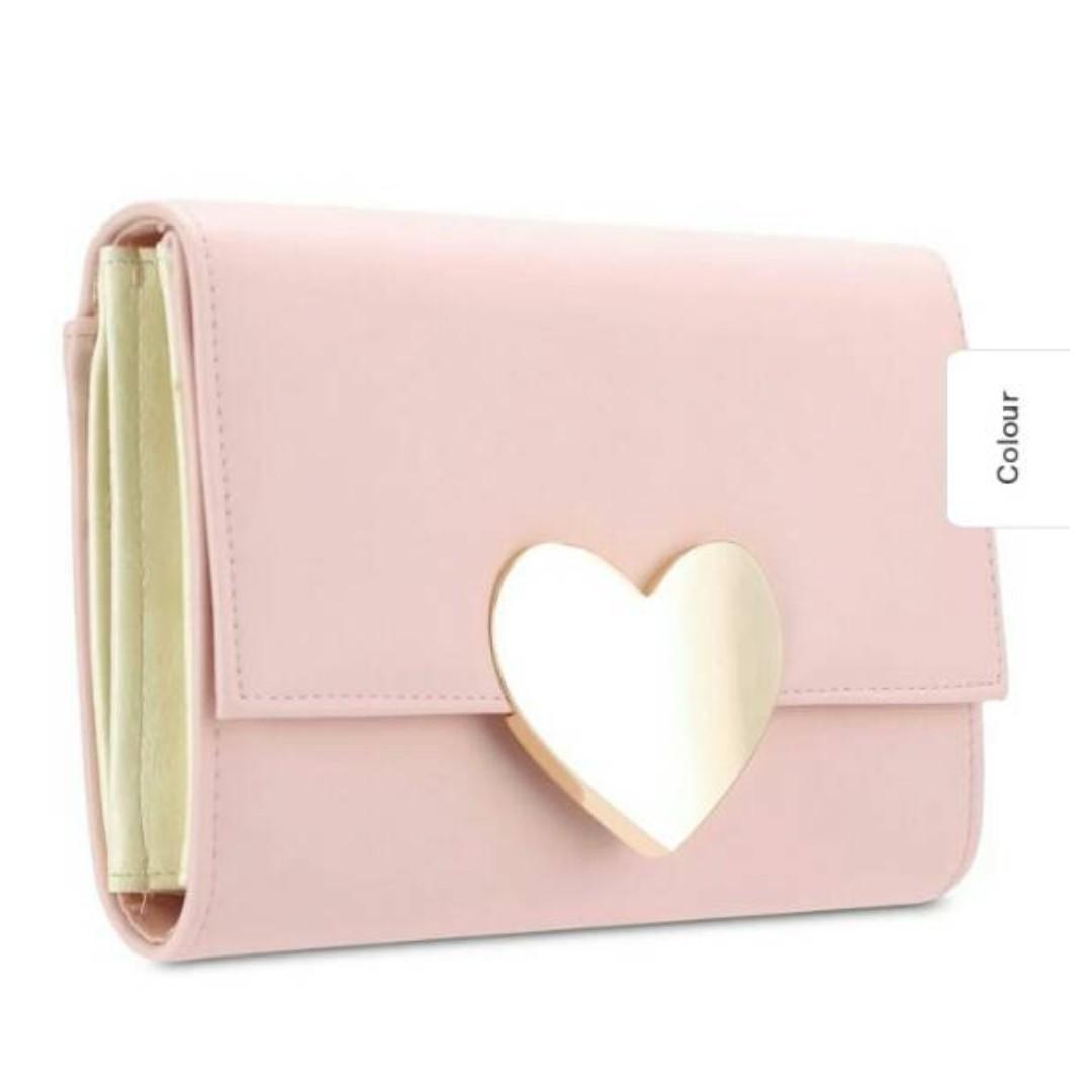 Pink heartshaped handbag