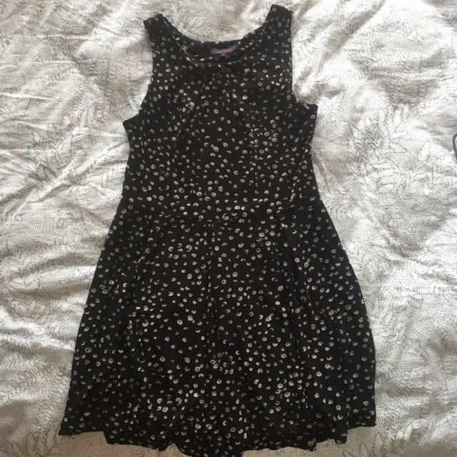 polka dot summer swing dress