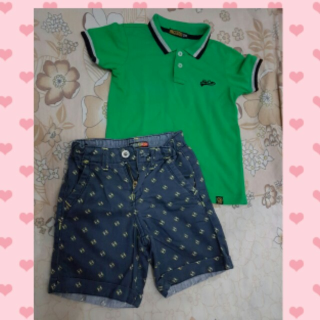 polo and short set
