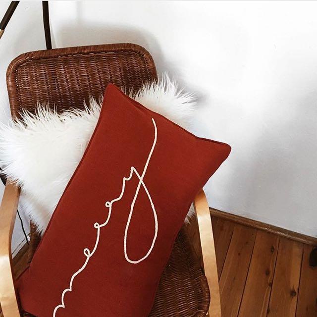 Pottery Barn 'Merry' festive pillow