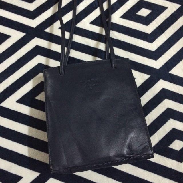 Prada Dark Blue Vintage Handbag