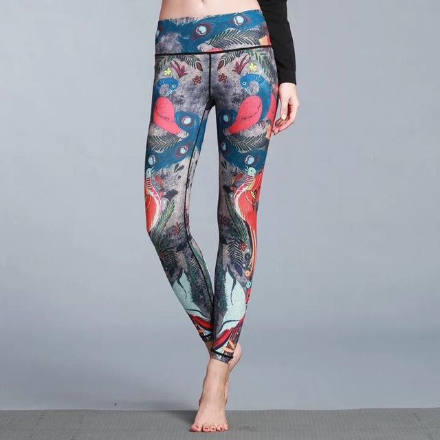 c95d803ae4dad9 Preorder - Peacock inspired yoga pants, Women's Fashion, Clothes ...