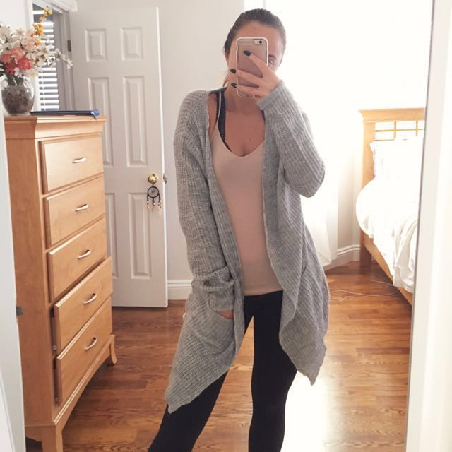 *PRICE DROP* Fashion Nova Grey Oversized Knit Cardigan
