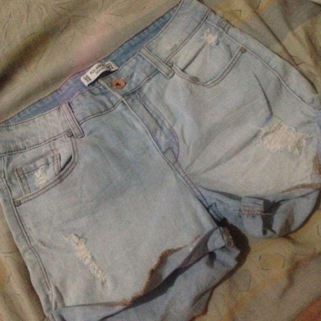PULL & BEAR Mid Denim Shorts