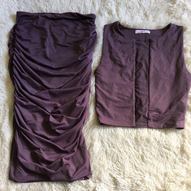 Purple 2 Piece Set