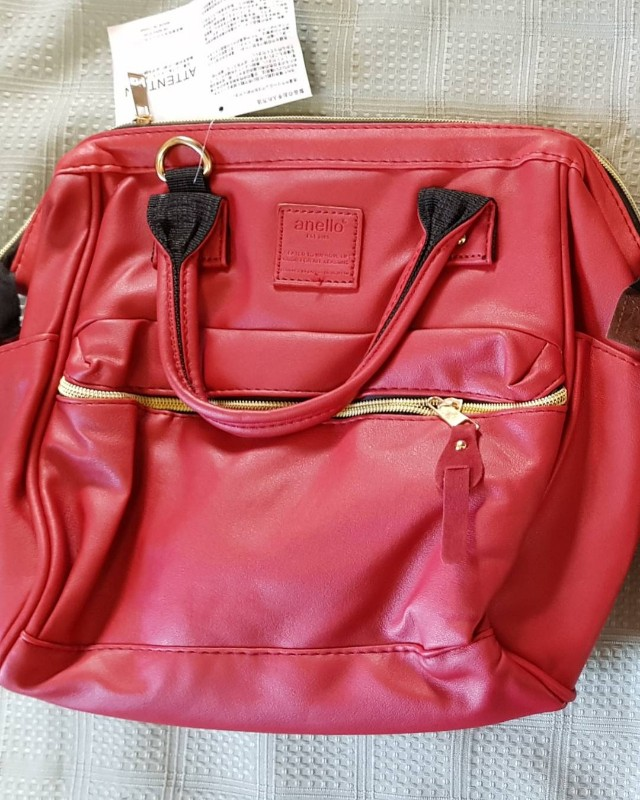 red anello 3 way bag medium size