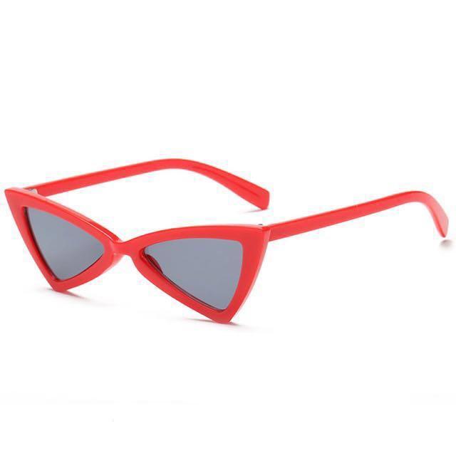 Red angular sunglasses (cateye, cat eye, vintage)