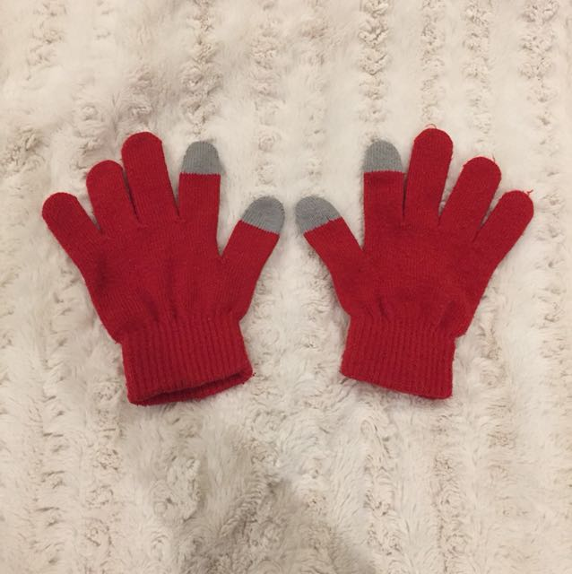 Red Smartphone Gloves