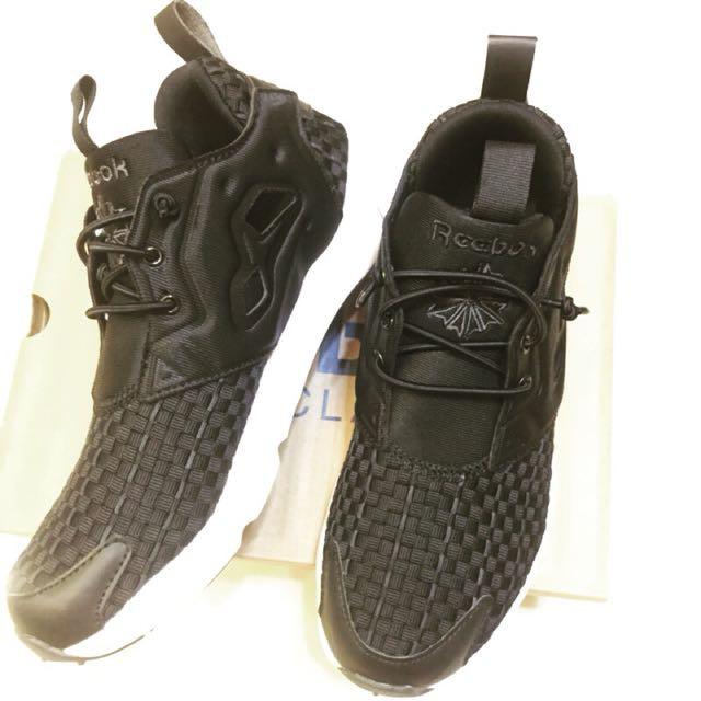 Reebok classic us7.5 24.5黑色女鞋 編織 輕量 部落客 潮流