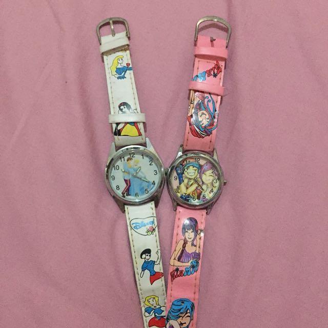 [REPRICE] Jam tangan anak2 (dapet 2)