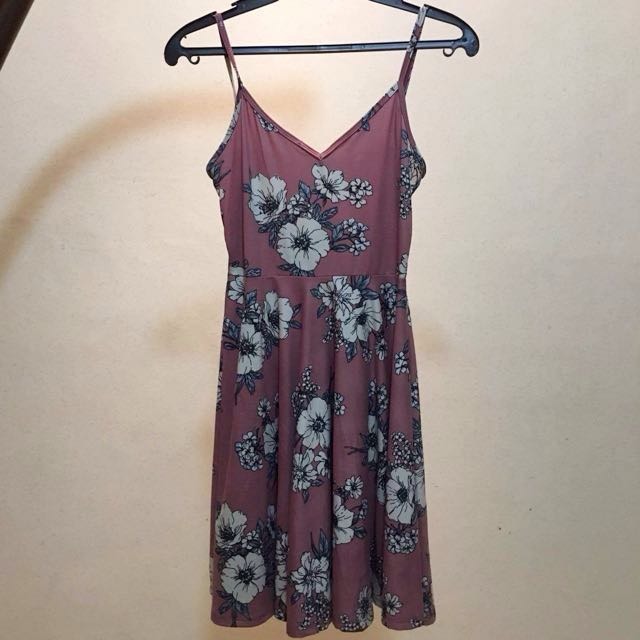 (REPRICED) Old Rose floral dress