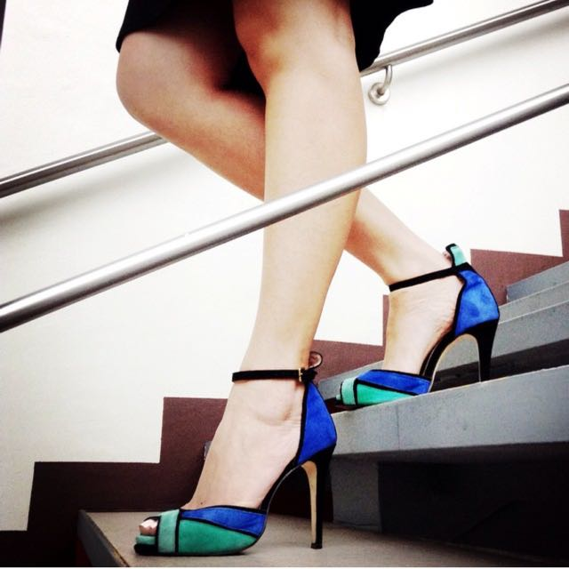 REPRICED! Zara suede sandals