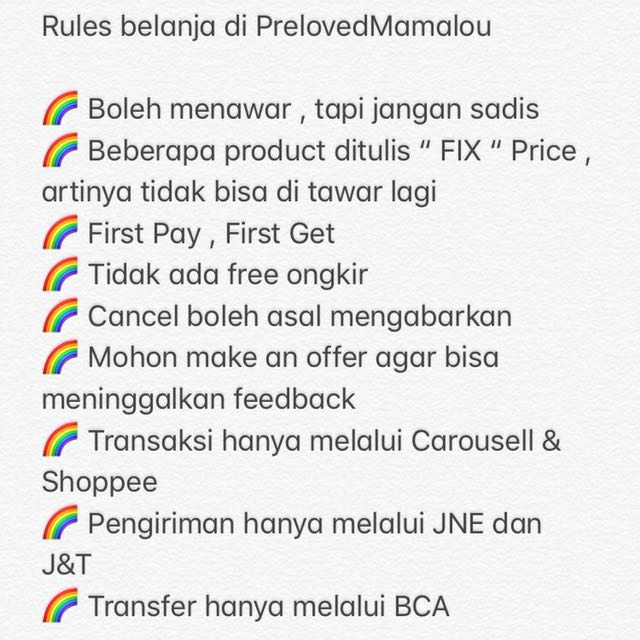 Rules at prelovedmamalou