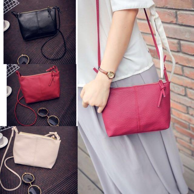 SB2017 Ladies Shoulder Leather Sling Bag