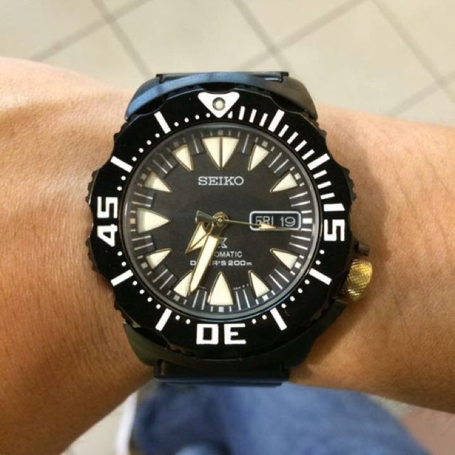 Seiko Black Ion Monster Srp583 Men S Fashion Watches On