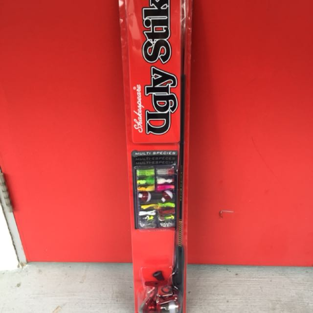 Shakespeare Ugly Stik Rod Reel Fishing Tackle Combo New