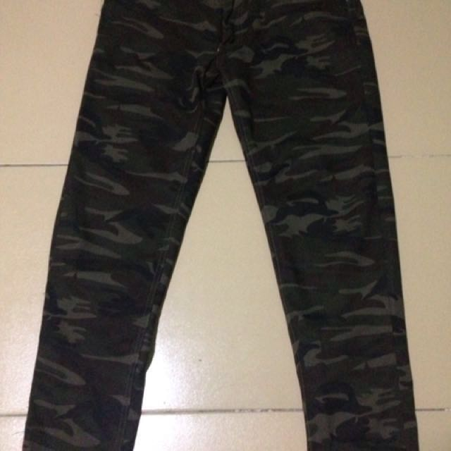 Slim Fit Camouflage Pants for Men
