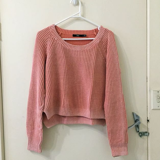 Sportsgirl Faded Pink Knit Jumper