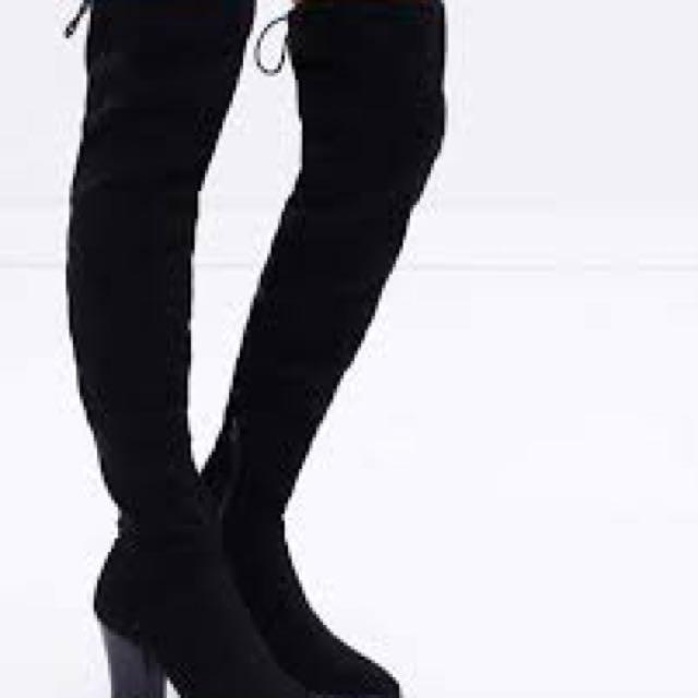 Spurr Antonia Over the Knee boots BLACK SZ 8