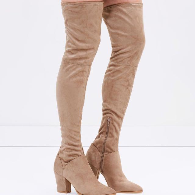 Spurr Antonia Over the Knee boots in Mushroom SZ 8