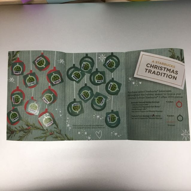 Starbucks Complete Sticker Card