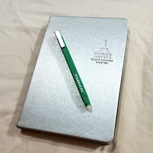 Starbucks Erasable Pen with Journal