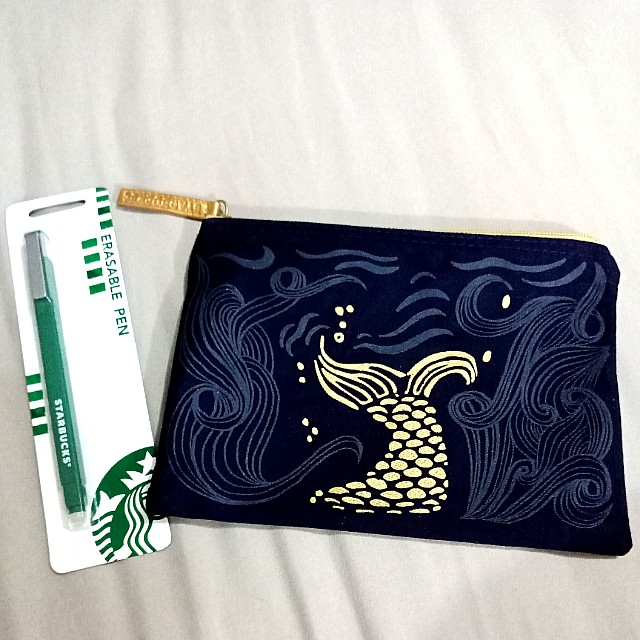 Starbucks Pouch and Erasable Pen