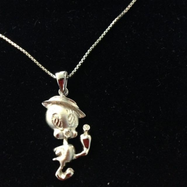 Sterling silver Tweety Bird necklace